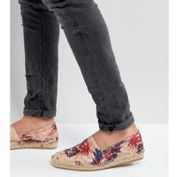 H by hudson exclusive for asos palm print espadrilles - beige