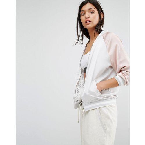 reversible mesh satin bomber - pink, New look