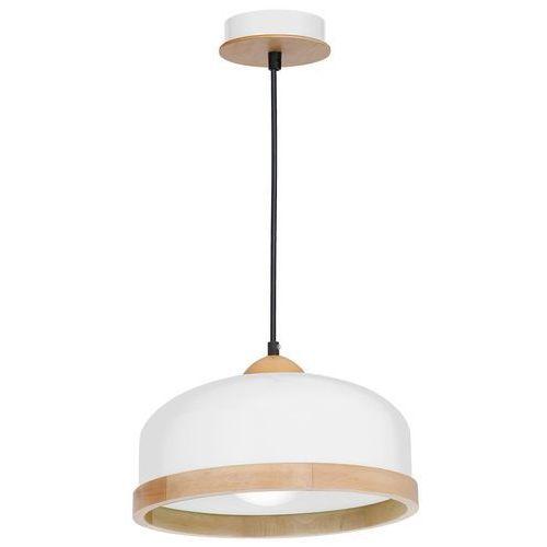 Luminex Lampa wisząca studio 8848 lampa sufitowa żyrandol 1x60w e27 brązowa / biała (5907565988482)
