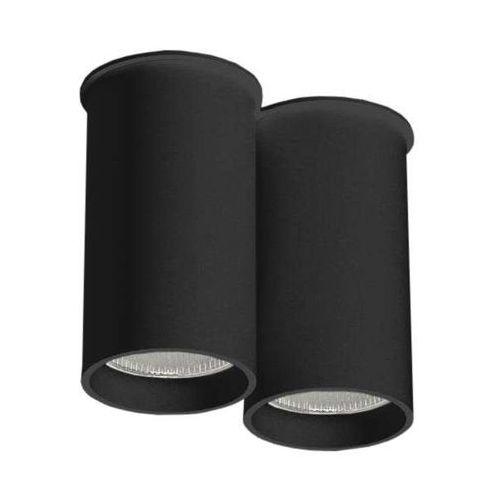 Shilo Downlight lampa sufitowa arida 1112/gu10/cz natynkowa oprawa reflektorowa do łazienki tuby czarne