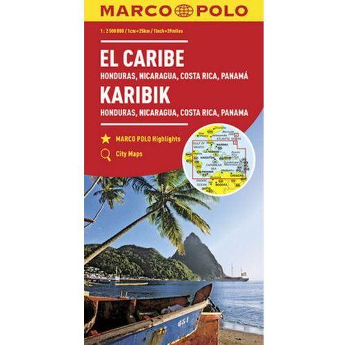 MARCO POLO Kontinentalkarte Karibik 1:2 500 000, oprawa broszurowa