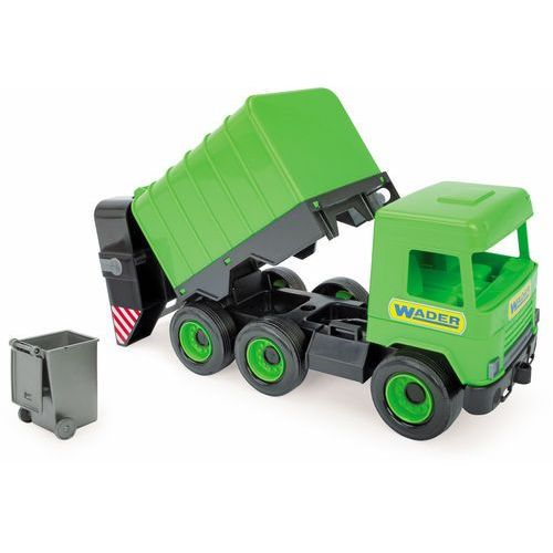 Wader Middle truck - śmieciarka zielona