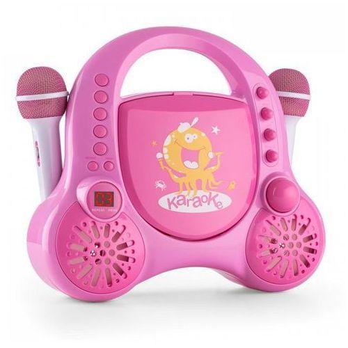 Rockpocket-A PK karaoke dla dzieci 2 mikrofony akumulator rozowy