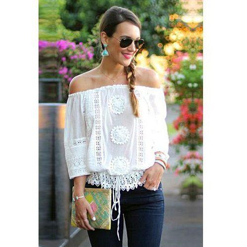 Damska bluzka INGA WHITE, kolor biały