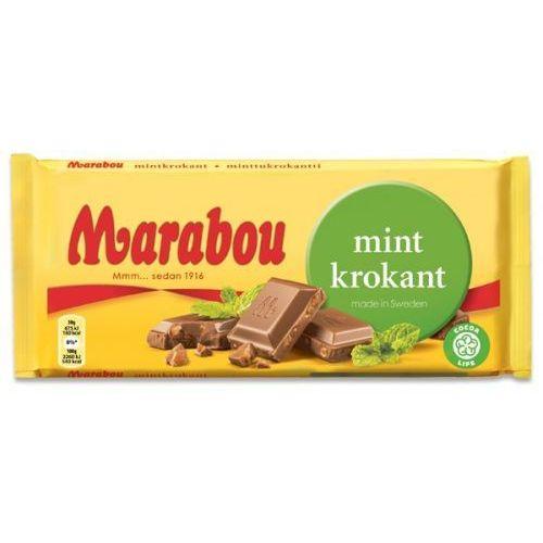 Marabou - mintkrokant - czekolada mleczna o smaku miętowym - 200g - ze szwecji (7310510001996)