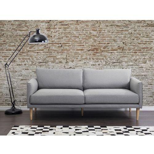 Sofa jasnoszara - kanapa - sofa tapicerowana - uppsala marki Beliani