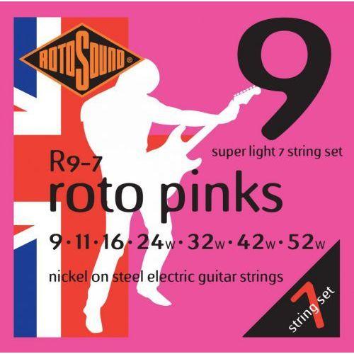 r-9-7 struny do gitary elektrycznej 9-52 marki Rotosound