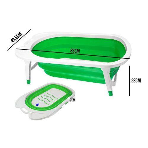Składana wanienka turystyczna dla dzieci KINDERSAFE zielona HJ-1 (5902921968146)