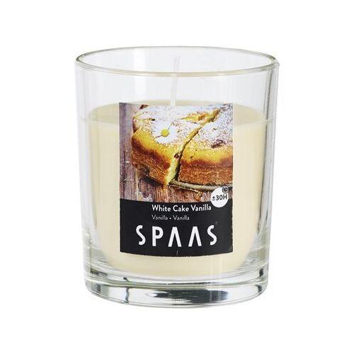 SPAAS Świeczka zapachowa w szkle White Cake Vanilla, 7 cm (5411708131043)