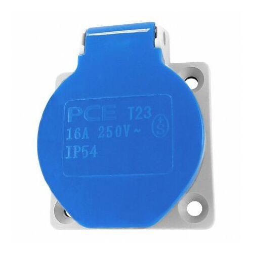 Pce Gniazdo tablicowe 16a 230v ip54 szwajcarskie niebieskie wtyczkowe jednofazowe t23 6987