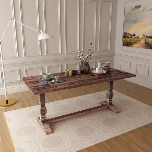 Vidaxl Stół składany z drewna akacjowego, 180x80x75 cm