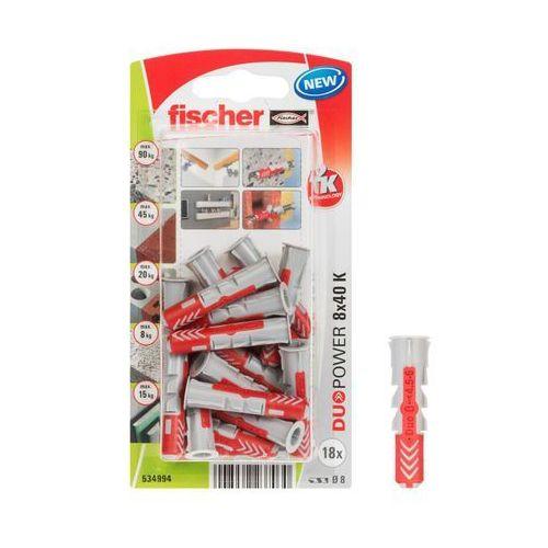 Fischer Kołek rozporowy duopower 8x40 k nv blister (4048962237030)
