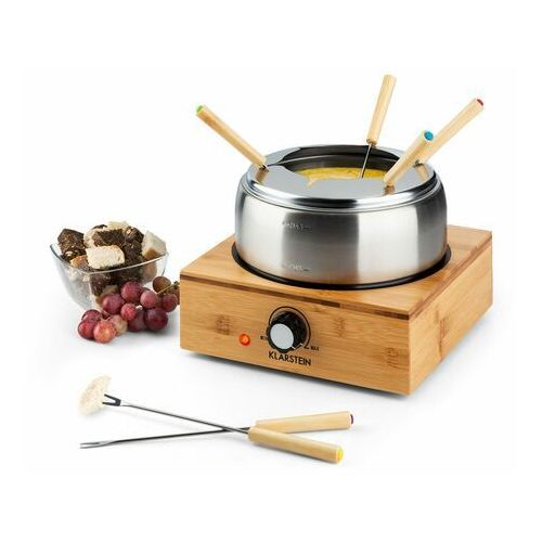Klarstein Bambus, fondue, garnek ze stali szlachetnej, 800 W (4060656232565)