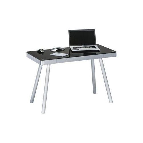 Maja-möbel Biurko, stół do pracowni alu metal czarne, połysk 50009442