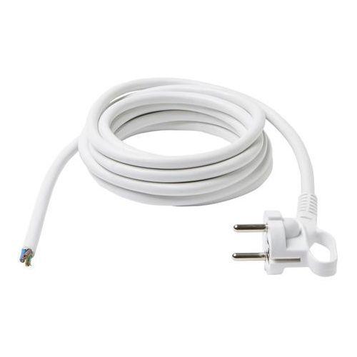 Diall Wtyczka z przewodem 3 x 1,5 mm 3 m biały (3663602736103)