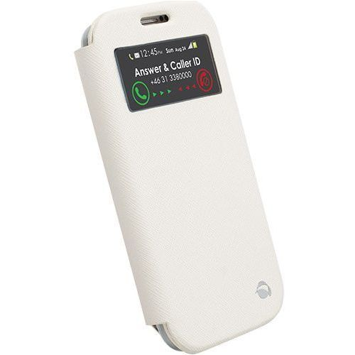 Etui KRUSELL FlipCase Malmo View do Samsung Galaxy S4 I9500 Biały (7394090756835)
