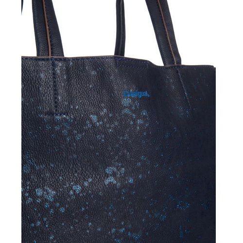 Desigual set torba na zakupy schwarz meliert