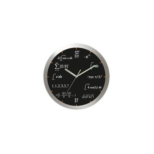 Zegar aluminiowy matematyka #4, kolor Zegar