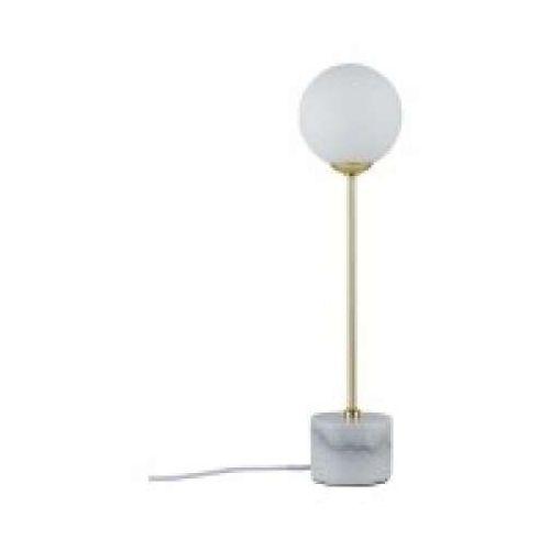 Oprawa stołowa Neordic Moa 1-lampowy marmur Biały / Złoty matowy, PAULMANN 79661