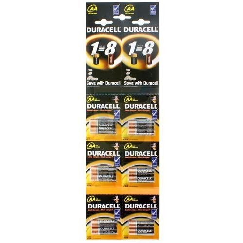Duracell Baterie alkaliczne  duralock basic c&b lr6 aa (blister) 12 sztuk