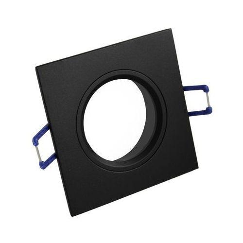Oprawa sufitowa aluminium kwadrat stała czarny matowy
