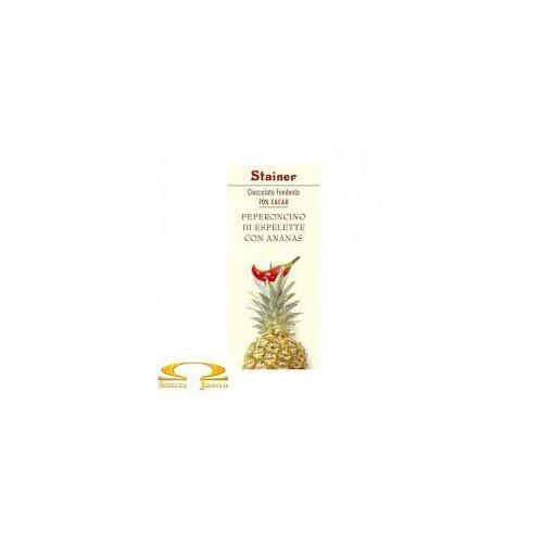 Czekolada Stainer 70% z papryczką chilli i ananasem, EE37-392CB