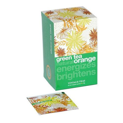 Vintage teas Zielona herbata  z aromatem pomarańczy - 30x1,5g