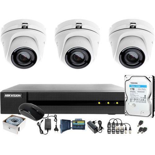 Utp skrętka monitoring 4mpx hwd-6104mh-g2 3 x hwt-t140-m 1tb samodzielny montaż marki Hikvision hiwatch