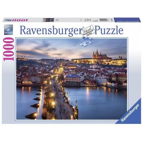 Puzzle 1000 praga nocą marki Ravensburger