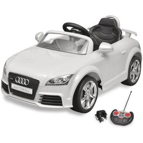 Vidaxl  audi tt rs samochód dla dzieci z pilotem biały, kategoria: autobusy zabawki