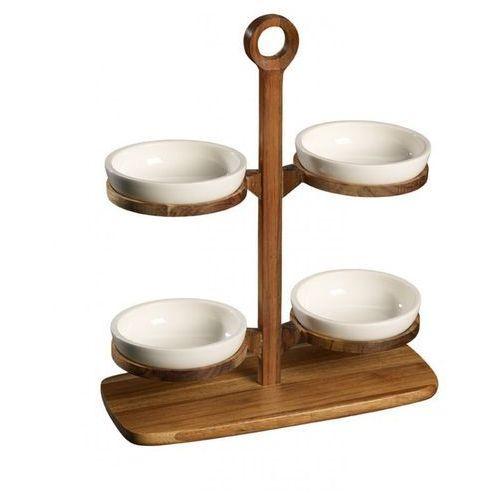 Villeroy & Boch - BBQ Passion Drewniany stojak z czterema miseczkami