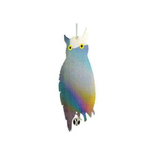 Odstraszacz ptaków sowa. Sylwetka sowy hologramowa.