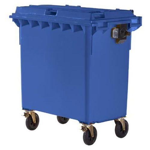 Schaefer group Duży pojemnik z tworzywa na odpady wg pn en 840, poj. 770 l, niebieski. wg din e
