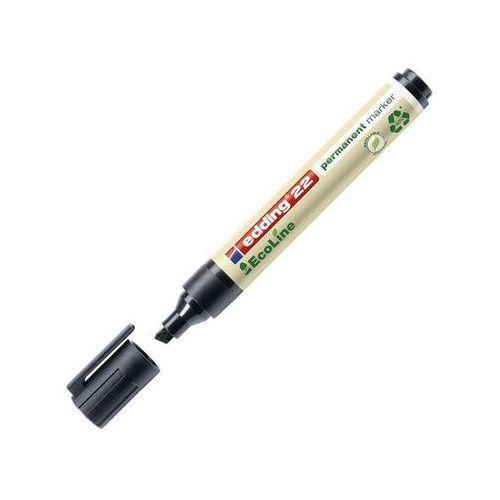 marker permanentny ecoline e-22, ścięta końcówka 1-5mm, czarny marki Edding