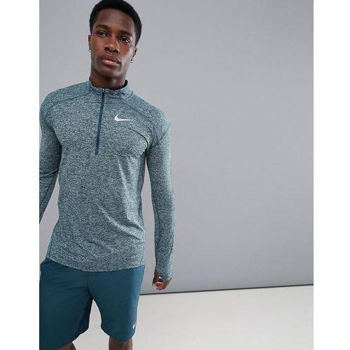 dri-fit element half-zip sweat in green 857820-328 - green marki Nike running