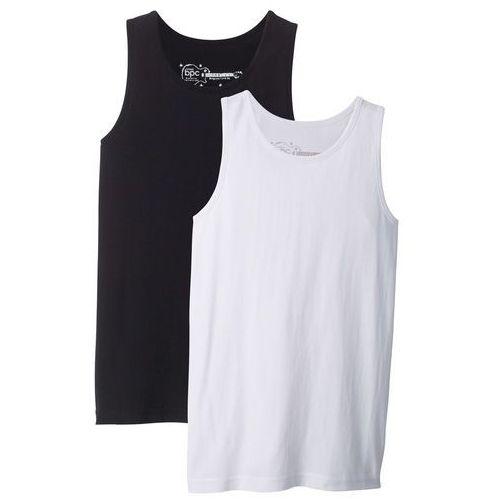 Koszula z długim rękawem slim fit biały marki Bonprix