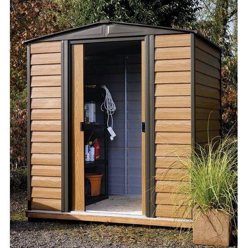 Arrow Domek ogrodowy metalowy woodridge 1,8 x 1,5 m (0026862109057)