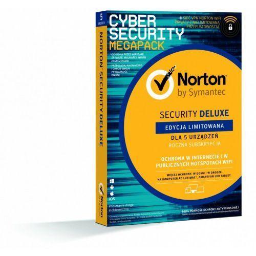norton security 3.0 deluxe + wifi privacy 1.0 pl 1użytkownik 5urządzeń 1rok 21386356 marki Symantec