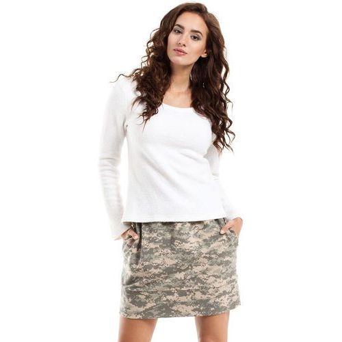 Trapezowa spódnica mini moro MOE242_3, trapezowa