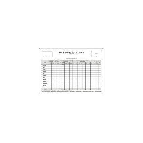 Firma krajewski Karta ewidencji czasu pracy roczna a4 [pu/zo-96]