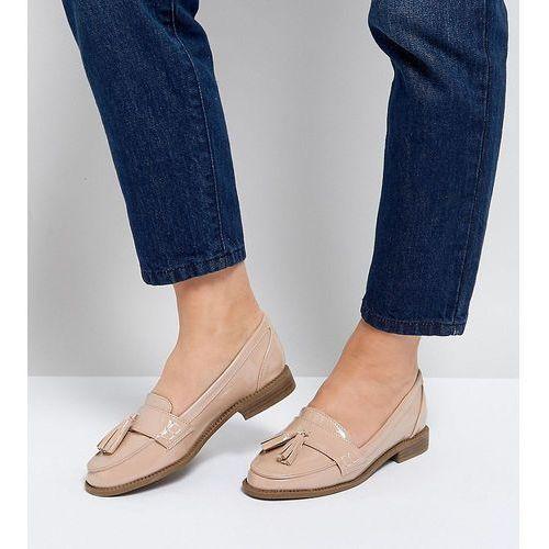 Park Lane Wide Fit Loafer Flat Shoes - Beige