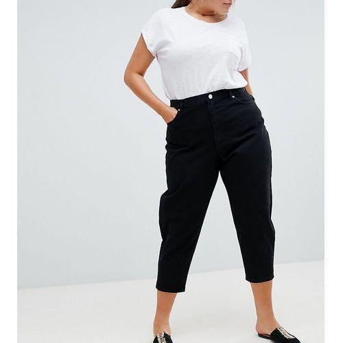Asos design curve balloon boyfriend jeans in clean black - black, Asos curve