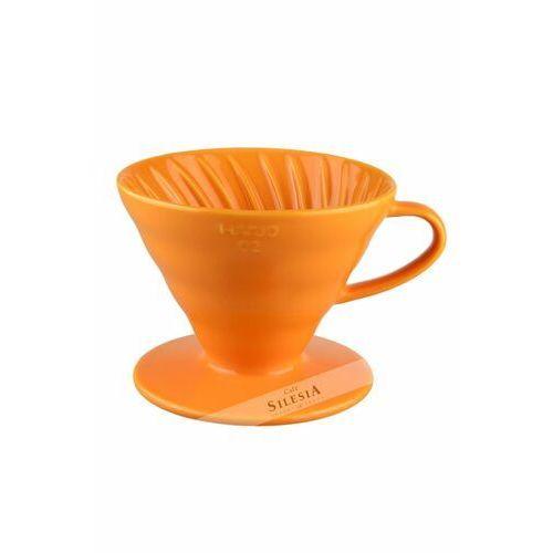 Hario Ceramiczny dripper v60-02 pomarańczowy + 40 szt. filtrów (4977642728516)