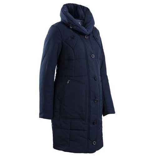 Krótki płaszcz pikowany ciążowy bonprix ciemnoniebieski, płaszcz