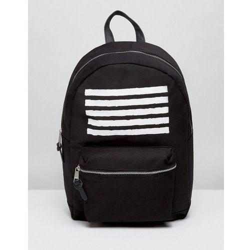 New look  backpack with stripe print in black - black