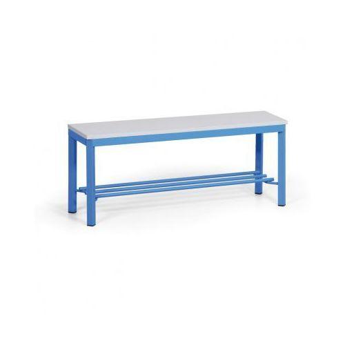 Ławka szatniowa z półką, siedzisko - laminat, 1000 mm