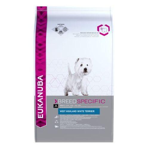 adult breed specific west highland white terrier - 2,5 kg  darmowa dostawa od 89 zł + promocje od zooplus!  -5% rabat dla nowych klientów marki Eukanuba
