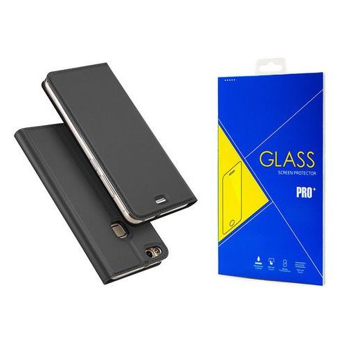 Etui Skin Series Dux Ducis Huawei P10 Lite Szare + Szkło - Szary
