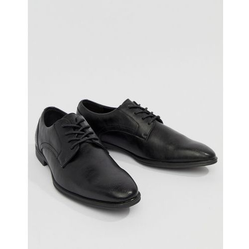 faux leather derby shoes in black - black marki New look