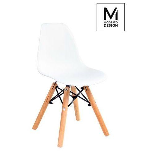 Sofa.pl Modesto krzesło junior dsw białe - polipropylen, nogi bukowe